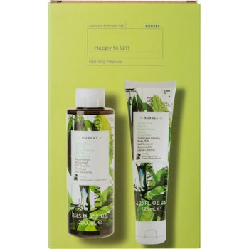 Korres Happy To Gift Uplifting Pleasure Σετ Δώρου Πράσινο Τσάι Αφρόλουτρο 250 ml + Πράσινο Τσάι Γαλάκτωμα σώματος 125 ml