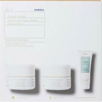 Korres Σετ Λευκή Πεύκη Κρέμα Ημέρας για Όλους τους Τύπους Επιδερμίδας 40 ml + Δώρο Λευκή Πεύκη Κρέμα Νύκτας 40 ml + Δώρο Korres Τσάι του Ολύμπου Γαλάκτωμα Καθαρισμού 3 σε 1 16 ml
