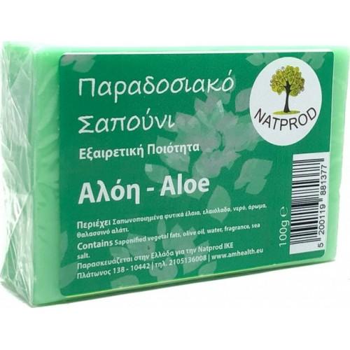 Natprod Παραδοσιακό Σαπούνι Αλόη 100 gr