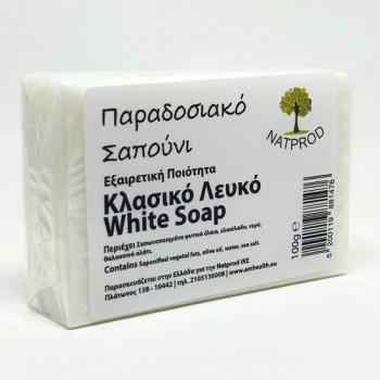 Natprod Παραδοσιακό Σαπούνι Κλασσικό Λευκό 100 gr