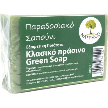 Natprod Παραδοσιακό Σαπούνι Κλασικό πράσινο 100 gr