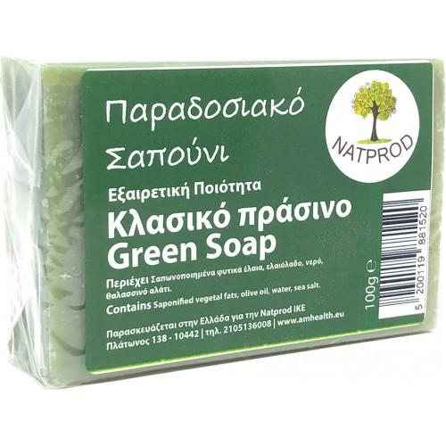 Natprod Παραδοσιακό Σαπούνι Πράσινο Τσάι 100 gr