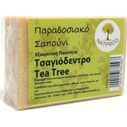 Natprod Παραδοσιακό Σαπούνι Τσαγιόδεντρο 100 gr
