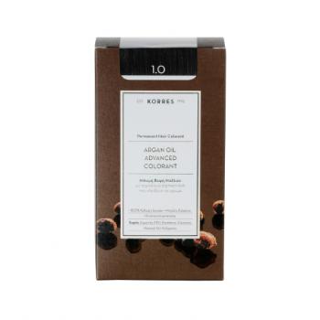 Korres Argan Oil Μόνιμη Βαφή Μαλλιών 50 ml 1.0 Μαύρο Φυσικό Περιποίηση Μαλλιών