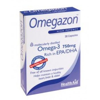 Health Aid Omegazon 750 mg 60 caps Συμπληρώματα Διατροφής - Βιταμίνες