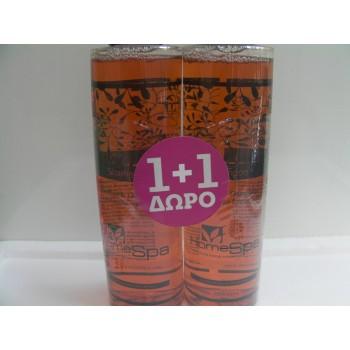 HomeSpa Σαμπουάν Λεκιθίνη και Γλυκόριζα για ξηρά μαλλιά 1+1 Δώρο 2x250 ml Σαμπουάν - Conditioner