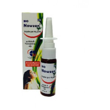Bio Nowzen Nasal Spray 20 ml Σπρέυ για τη βουλωμένη μύτη με αλόη και υαλουρονικό