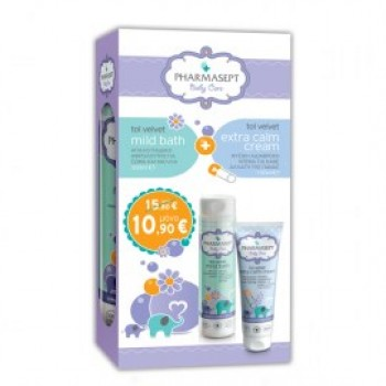 Pharmasept Baby Care Σετ Tol Velvet Mild Bath 300 ml + Tol Velvet Extra Calm Cream 150 ml
