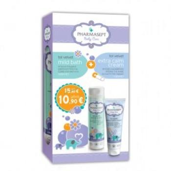 Pharmasept Baby Care Σετ Tol Velvet Mild Bath 300 ml + Tol Velvet Extra Calm Cream 150 ml