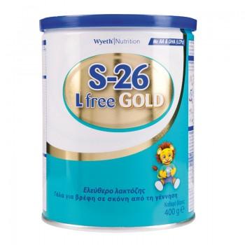 S-26 - GOLD L Free, Βρεφικό Γάλα Ελεύθερο Λακτόζης από την Γέννηση 400g Βρεφικά