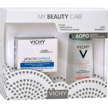 Vichy My Beauty Care Liftactiv Supreme Ξηρές Επιδερμίδες 50 ml + Mineral Micellar Water Νερό Καθαρισμού για Ευαίσθητες Επιδερμίδες 100 ml Promo Pack
