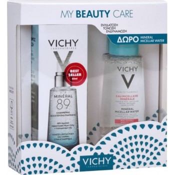 Vichy My Beauty Care Mineral 89 Booster Ενδυνάμωσης Προσώπου 50 ml + Micellar Water Νερό Καθαρισμού για Ευαίσθητες Επιδερμίδες 100 ml Promo Pack